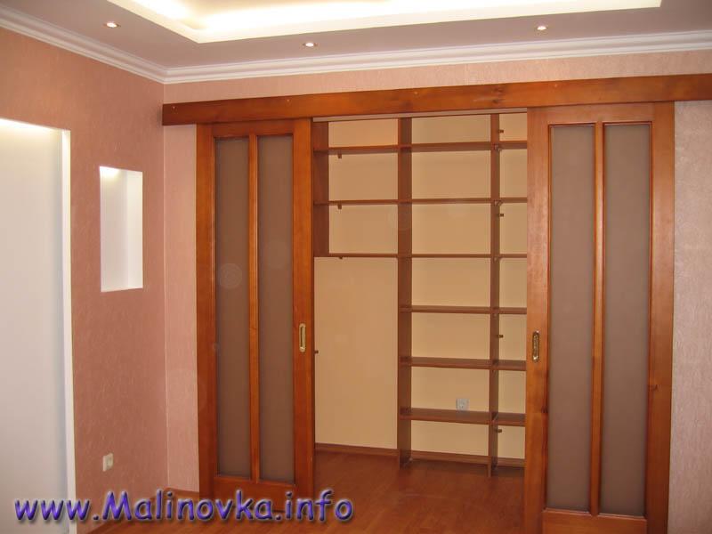 Как сделать шкаф в стене с раздвижной